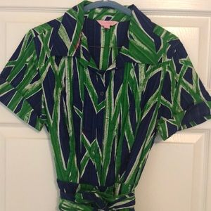 Lily Pulitzer bamboo dress size 12